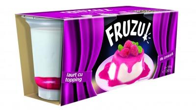 Fruzu - Iaurt cu topping de zmeura