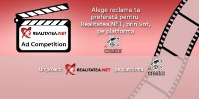 A inceput etapa de vot in cadrul Realitatea.NET Ad Competition