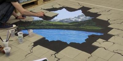 """Campania de activare in-store Dorna """"Esti una cu natura"""" include picturi 3D"""