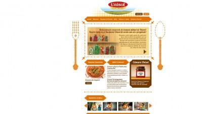 Website Bucatarulunisol.ro - Homepage