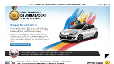 Website: Renault - Renault Megane Olympic (homepage)