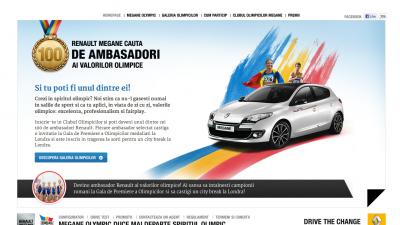 Website: Renault - Renault Megane Olympic (homepage)