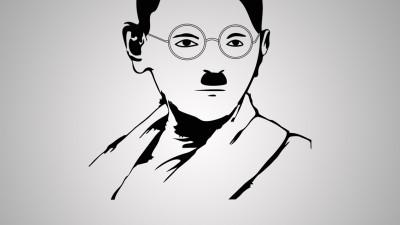 World Peace Day - Gandhi / Hitler