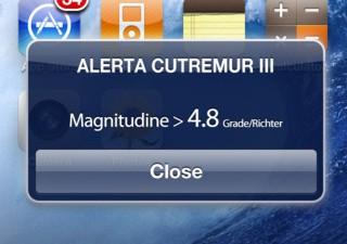 Aplicatie de mobile: IRSA - Alerta cutremur Vrancea, 1