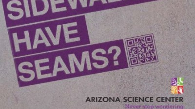 Arizona Science Center - Never stop wondering, Sidewalk seams