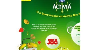 """12.000 de utilizatori ai aplicatiei """"Activia Mic Dejun"""" in patru saptamani de la lansare"""