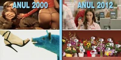 2012 vs. 2000: Ce s-a schimbat in mai bine de zece ani de publicitate?