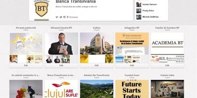 Banca Transilvania comunica prin intermediul contului de Pinterest