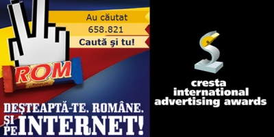 """Romanii sunt destepti"" a castigat Grand Prix la Cresta Awards"