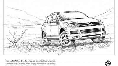 Volkswagen Touareg BlueMotion - Line Drawing