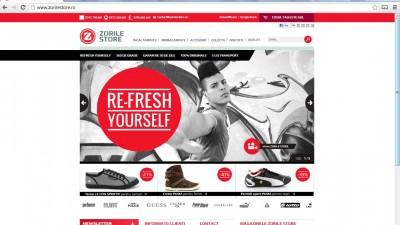 Website: Zorilestore.ro - Homepage