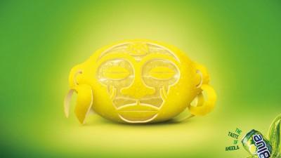 Blue Soft Drink - Lemon