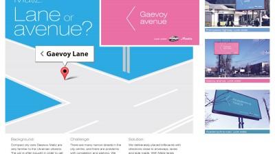 Daewoo Matiz - Lane or Avenue