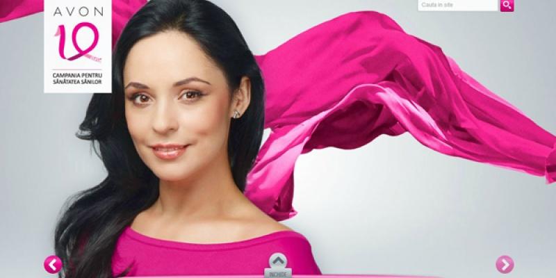 """Andreea Marin este ambasadorul """"Campania pentru sanatatea sanilor"""", sustinuta de Avon si Starcom MediaVest"""