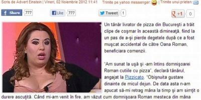 Advertorial cu Oana Roman pentru Pizzicato pe Times New Roman