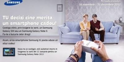 """Campania promotionala Samsung: """"TU decizi cine merita un smartphone cadou"""""""