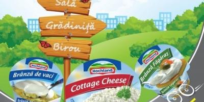 "Campanie de lansare a produselor ""branzica proaspata"" Hochland, semnata de pastel"