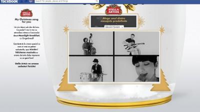 Aplicatie de Facebook: Stella Artois – My Christmas Song for you