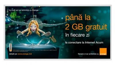 Orange Moldova - Billboard conectare la Internet Acum