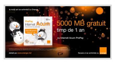 Orange Moldova - Billboard Internet Acum PrePay