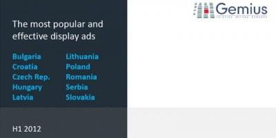 Studiu gemius AdMonitor: Formatele de bannere cele mai folosite nu au intotdeauna cea mai buna rata de click