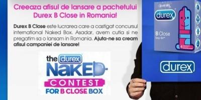 """Aplicatia """"Durex B Close"""" incurajeaza utilizatorii sa creeze afisul de lansare al pachetului B Close"""