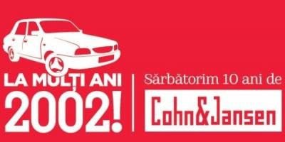 La multi ani, 2002! Cohn & Jansen JWT sarbatoreste azi 10 ani de la prima zi de marti