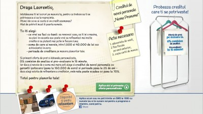Website: Bancpost - Creditul nume prenume, Laurentiu