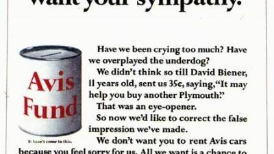 Avis - But we don't want your sympathy
