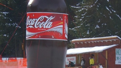 Coca-Cola - Ambient, sticla pe partie