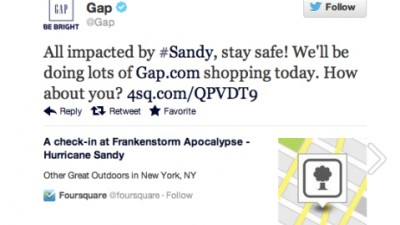 Gap - Hurricane Sandy Blunder, 1