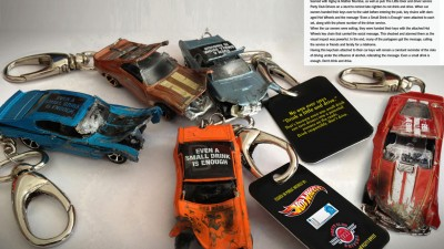 Hot Wheels - Don't drink & drive key chains