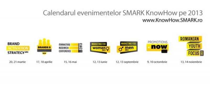 SMARK KnowHow anunta calendarul evenimentelor sale de marketing si comunicare din 2013