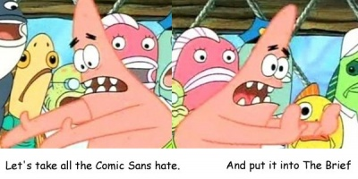 #pauzadelabrief De ce e okay sa-ti alimentezi ura pentru Comic Sans?
