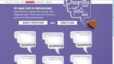 Website: Milka - Gesturimici.ro (provocari)