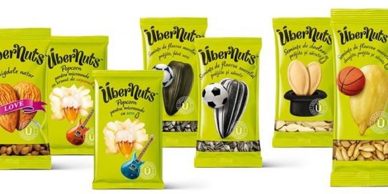 Brandient semneaza identitatea vizuala pentru noile produse Übernuts