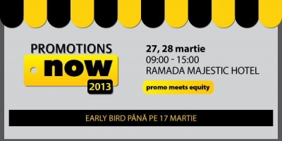 Conferinta Promotions Now 2013 - Promo meets equity. Un nou eveniment din seria SMARK KnowHow