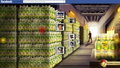 Aplicatie de Facebook: Depozitul de bere Bergenbier - Landing Page