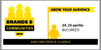 Conferinta Brands & Communities 2013 – Grow your audience. Un nou eveniment SMARK KnowHow, pe 24 si 25 aprilie