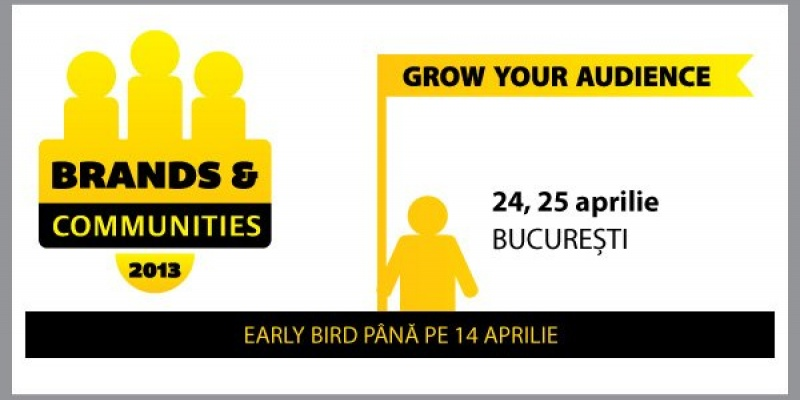 Conferinta Brands & Communities 2013 – Grow your audience. Un nou eveniment SMARK KnowHow, pe 24 si 25 aprilie