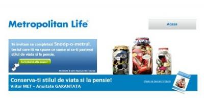 Noua campanie Metropolitan Life arata publicului ce sanse are sa-si conserve stilul de viata la pensie