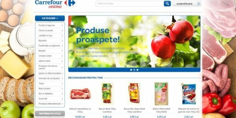 [UPDATE] Carrefour, primul mare retailer care intra in zona de grocery eCommerce in Romania