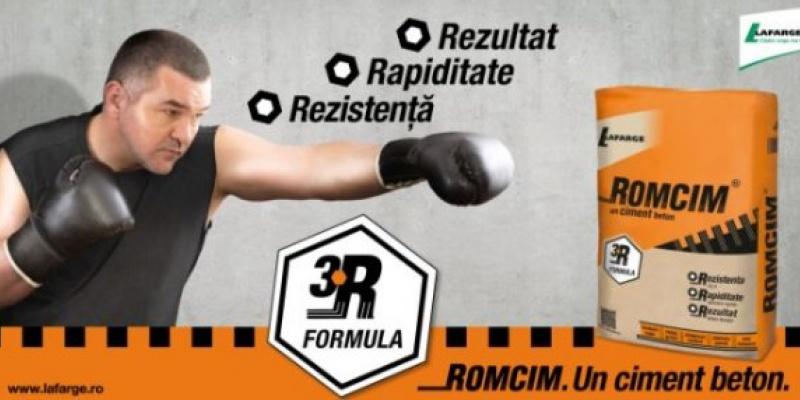 "Leonard Doroftei este protagonistul campaniei Romcim, desfasurata sub sloganul ""Un ciment beton"""