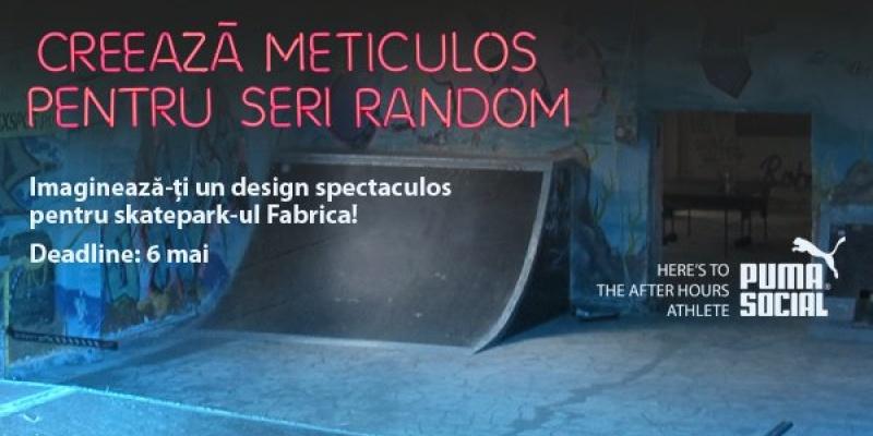 Ideile tale de design + cel mai mare skate park indoor din Bucuresti = Fabrica PUMA Social Design Competition