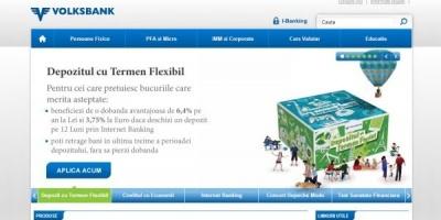 Traficul Volksbank.ro a urcat cu 26% fata de anul trecut in urma investitiilor companiei