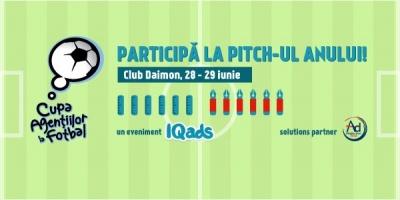 Start inscrieri pentru pitch-ul anului, la Cupa Agentiilor la Fotbal 2013