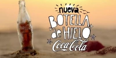 Coca-Cola in sticla de gheata