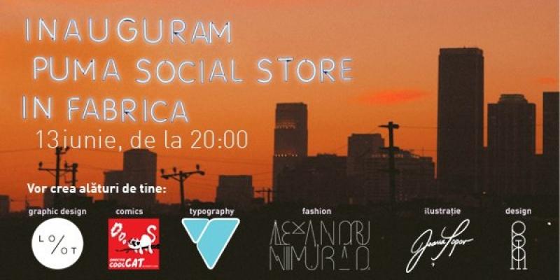 7 artisti deseneaza skyline-ul bucurestean in Fabrica, la primul eveniment PUMA Social Store