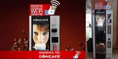 Doncafe lanseaza automatele de cafea cu Wi-Fi gratuit