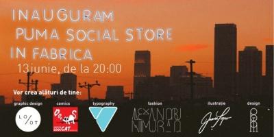 Bucharest Skyline, desenat de public si artisti: primul eveniment @PUMA Social Store din Fabrica
